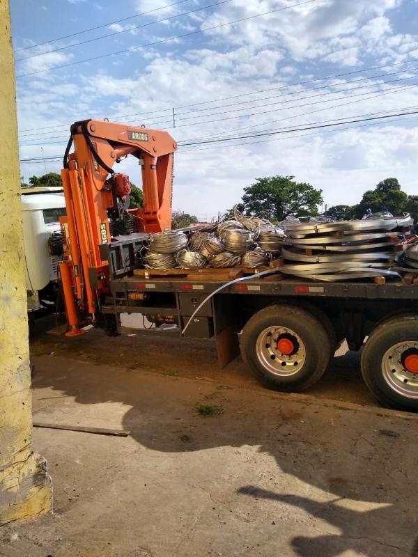 CHAPAS EM AÇO GALVANIZADAS - SUCATA (9.770 kg)